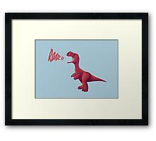 Baby T-rex Framed Print