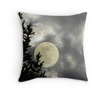 Perigee Wolf Moon Throw Pillow