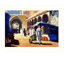 Steet market in Morocco Art Print