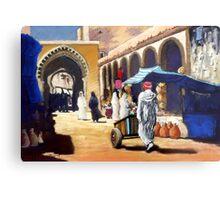 Steet market in Morocco Metal Print