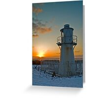 East Usk Lighthouse, Newport, South Wales Greeting Card