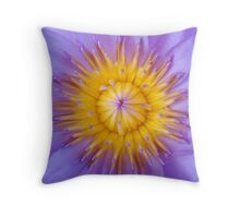 purple and yellow waterlily Throw Pillow