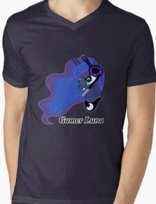 Gamer Luna Mens V-Neck T-Shirt