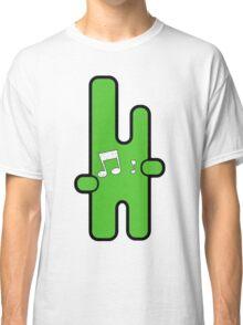 Funny digital green alien Classic T-Shirt