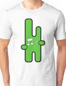Funny digital green alien Unisex T-Shirt