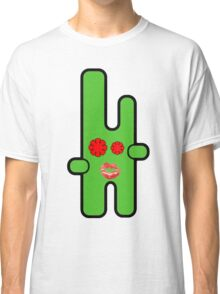 Funny digital green alien Classic T-Shirt