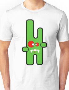 Funny digital green vampire alien Unisex T-Shirt