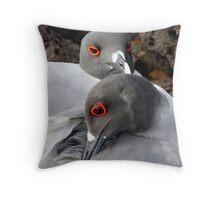 Nesting Pair (Galapagos) Throw Pillow