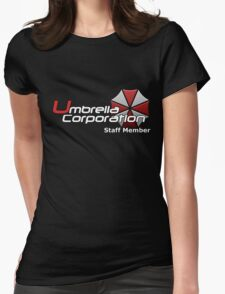Umbrella Corp. Staff Member Womens Fitted T-Shirt