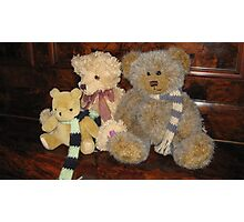 Boy & Girl Teddy with Pooh Bear. Photographic Print