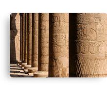 Columns of hieroglyphics, Edfu Temple of Horus Canvas Print