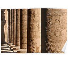 Columns of hieroglyphics, Edfu Temple of Horus Poster