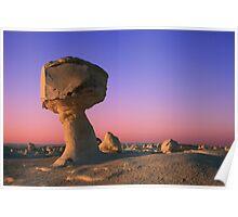 Sunset at White Desert Poster