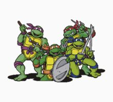All the ninja turtles together Kids Clothes