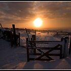 Snowy gate near Glossop by Shaun Whiteman