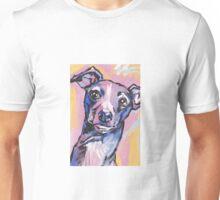 Italian Greyhound Dog Bright colorful pop dog art Unisex T-Shirt