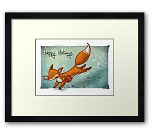 Holiday Fox Framed Print