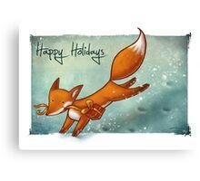 Holiday Fox Canvas Print