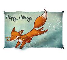 Holiday Fox Photographic Print