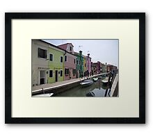 The Colours of Burano Framed Print