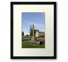 The Village Cross, Monyash Framed Print