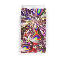 Psychedelic Rainbow Orb Warp Design Duvet Cover