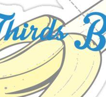 2/3 banana Sticker