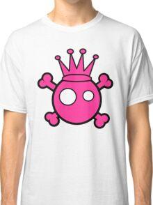 Funny pink skull and bones king Classic T-Shirt