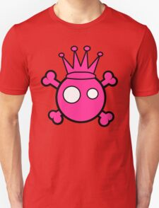 Funny pink skull and bones king T-Shirt