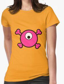 Funny pink cyclops skull and bones T-Shirt