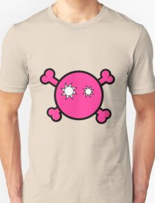 Funny pink skull and bones Unisex T-Shirt