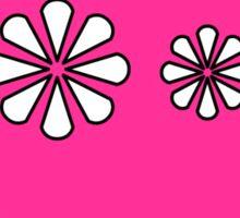 Funny pink skull and bones Sticker