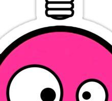 Funny pink skull and bones with ideea light bulb Sticker