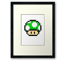 Green Mario Mushroom Framed Print
