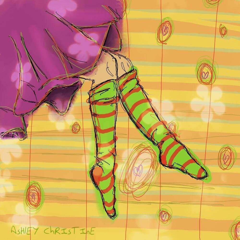 Green Socks by Ashley Christine Valentin
