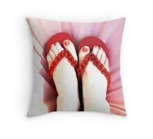 Frivolous Feet Throw Pillow
