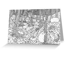 Diurnal Animals of the Forest Greeting Card