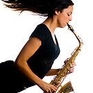 Now that's what I call blowing the saxophone!! by Mark Elshout