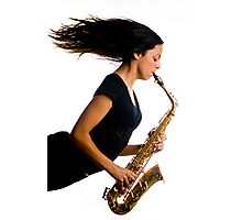 Now that's what I call blowing the saxophone!! Photographic Print