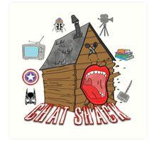 podcast Chat Shack Art Print