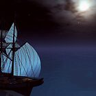 moonlit sail by Cheryl Dunning