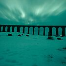 Ribblehead Viaduct - Northern Lights style by Mark Dobson