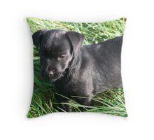 Jessie in The grass Throw Pillow