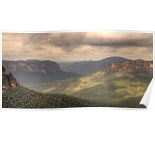 Shadows And Light - Govetts Leap, Blue Mountains World Heritage Area - The HDR Experience Poster