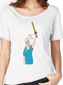 King of the Adventure Time Hill Women's Relaxed Fit T-Shirt
