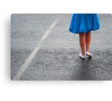Blue Coat & Legs Canvas Print
