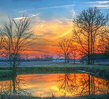 Rural Sunset by JGetsinger