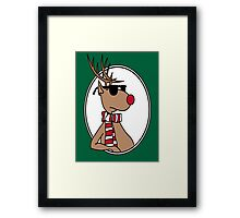 Chillin' Rudolph the Red Nosed Reindeer Framed Print