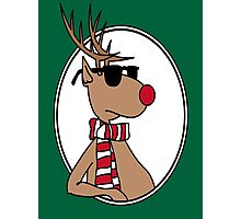 Chillin' Rudolph the Red Nosed Reindeer Photographic Print