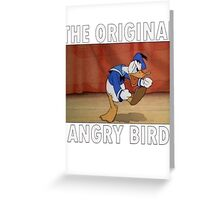 The Original Angry Bird (Donald Duck) Greeting Card